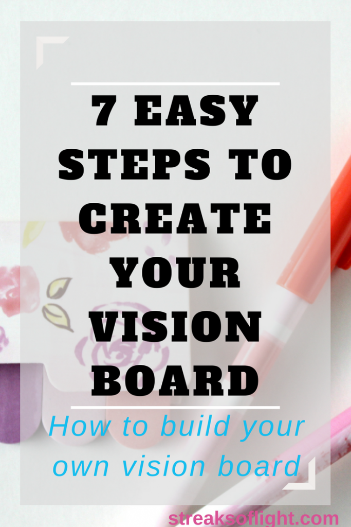 How to build your own vision board in 7 easy steps.