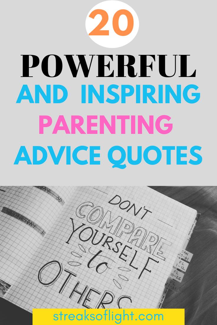 20 inspiring parenting advice quotes