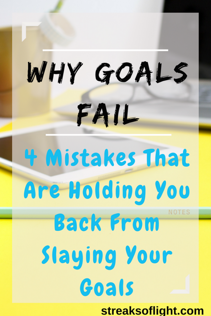 Most of us set ambitious goals but very few people actually achieve their goals. So why do goals fail? What are the mistakes you could be making that are hindering you from achieving your goals? We delve into that here.