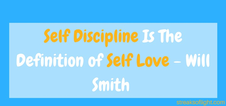 self discipline is self love