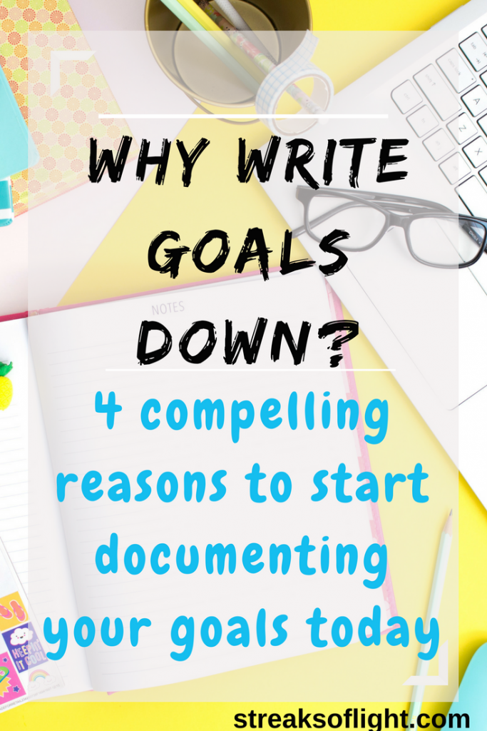 why write goals down