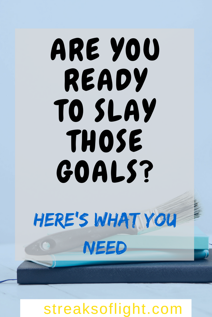 Are you ready to slay your goals? The 'Slay Your Goals' planner is the best goal setting planner I have come across. Click to read my review. #slayyourgoals #slayyourgoalsplanner #goals2018 #goalsetting