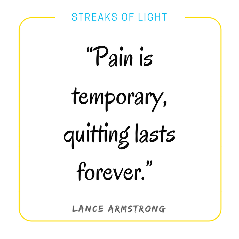 Quotes on failure: Pain is temporary, quitting lasts forever.- Lance Armstrong #Quotes #Inspirationalquotes #failure