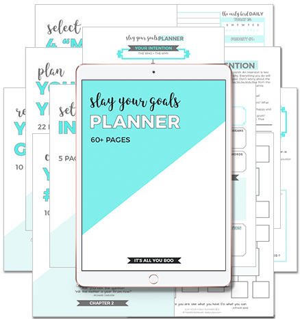 best goal setting planner. The slay your goals planner is the best