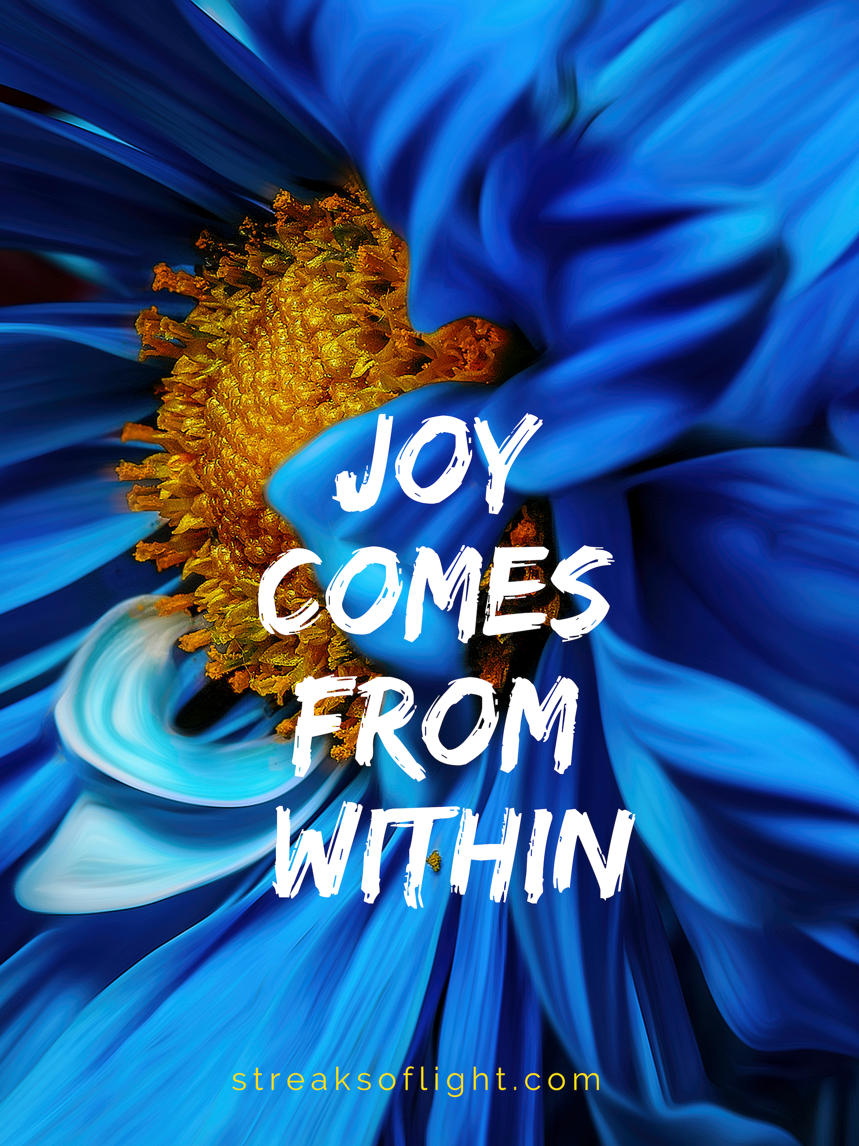 Joy comes from within. Counting your blessings will help you find joy despite the difficulties you may be facing.