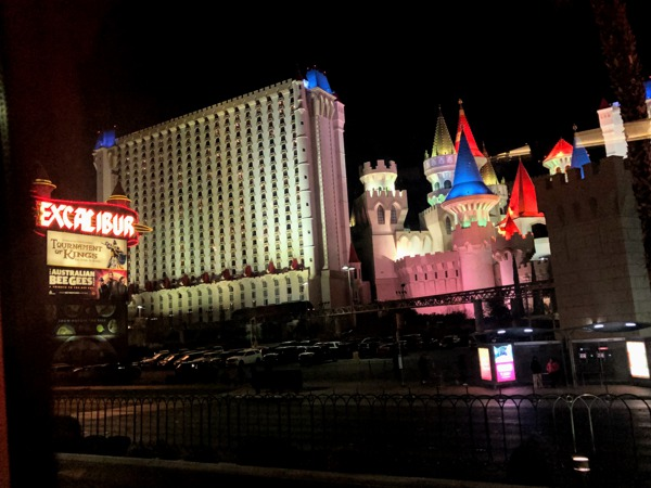 The Excalibur Hotel where we stayed during our Las Vegas and Grand Canyon  West Rim Tour.