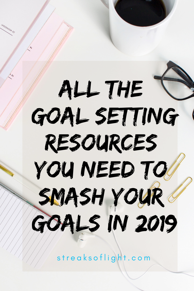 Find the ultimate collection of all the goal setting resources you will need to smash your  goals in 2019. No excuses, just action. #slayyourgoals #personaldevelopment #goals2019 #achieveyourgoals #goalslayer #settinggoals #smashyourgoals #personalgrowth #growthanddevelopment