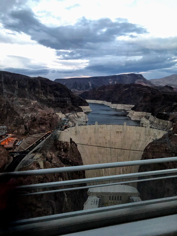 A view of the Hoover Dam during our fun tour of Las Vegas, Grand Canyon West rim and Hoover Dam.