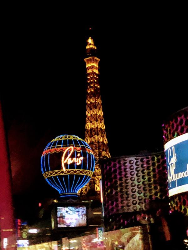 Paris, Las Vegas. The fake Eiffel Tower in Las Vegas, Nevada.