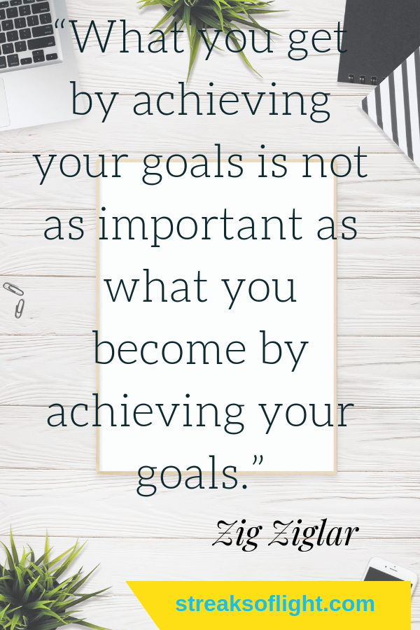 what you get for achieving your goals is not as important as what you become... Click to find more awesome quotes from Zig ziglar. #ZigZiglar #quotestoliveby
