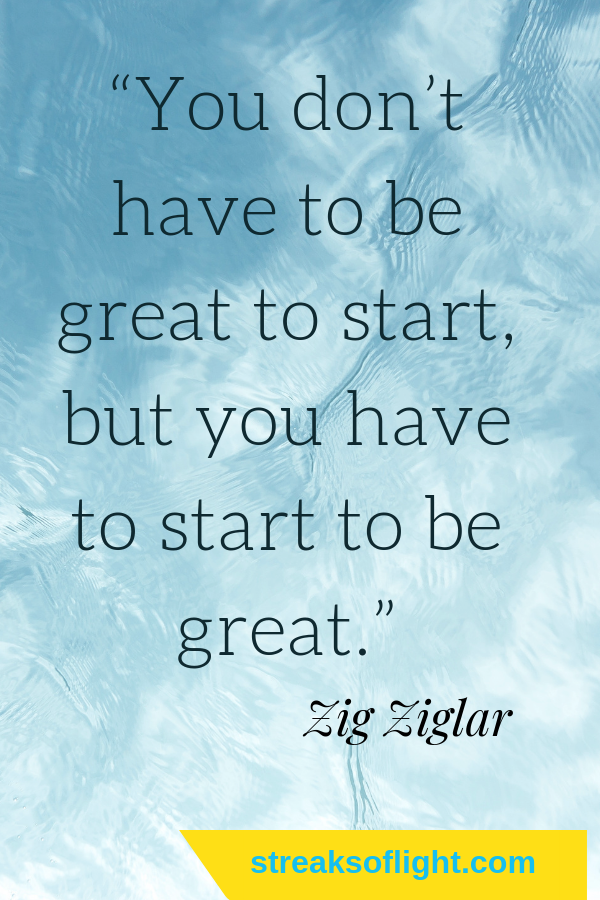 You don't have to be great to start but you have to start to be great. Awesome quotes by Zig ziglar. #zigziglarquotes #quotes