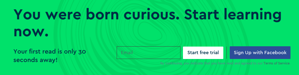 Want to feed your curiosity? Try Blinkist free for 7 days.